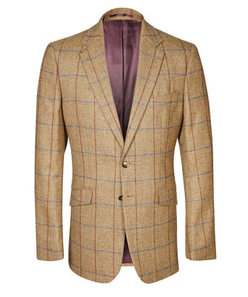 Sports Jacket - Brown/Blue/Red