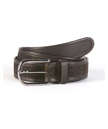 Harris Tweed Belt - Brown