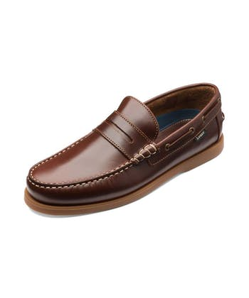 Plymouth Deck Moccasin - Brown