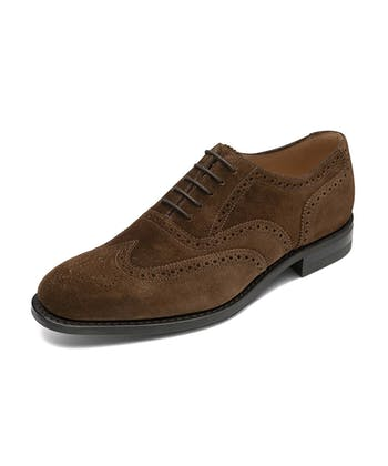 Full Brogue Shoe - Brown Suede
