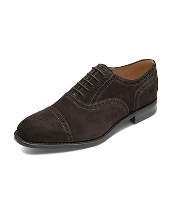 Half Brogue Shoe - Brown Suede
