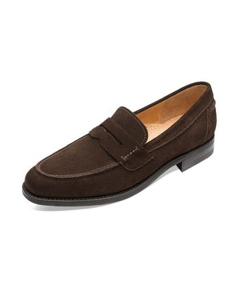 Penny Loafer - Brown Suede