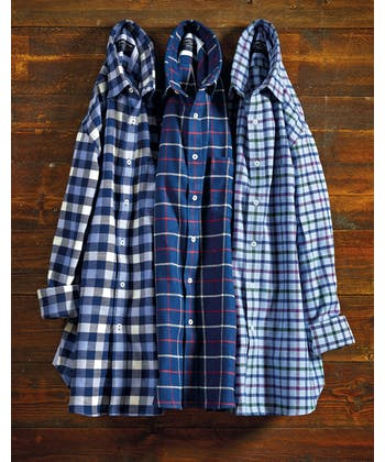 Brushed Cotton Check Shirt - Navy/Red/White