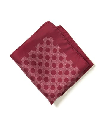 Silk Pocket Square - Burgundy Swirl