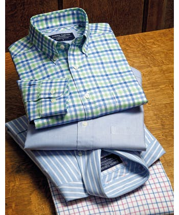 Button-Down Oxford Shirt - Blue/Pink