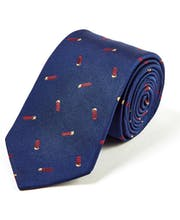 Cartridges on Navy - Woven Silk Tie
