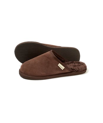 Sheepskin Slip-On Slipper - Chocolate Suede