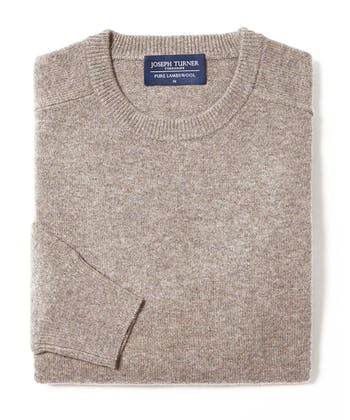 Lambswool Jumper - Crew Neck - Cobble