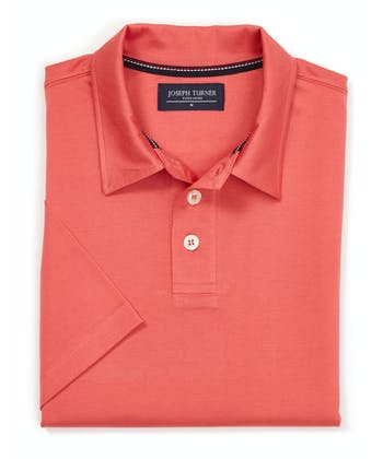 Mercerised Polo Shirt - Coral