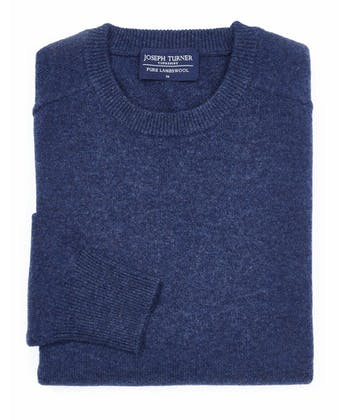 Lambswool Jumper - Crew Neck - Dark Blue