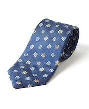 Flowers on Navy - Woven Silk Tie