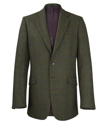 Tweed Jacket - Green/Blue/Magenta Check