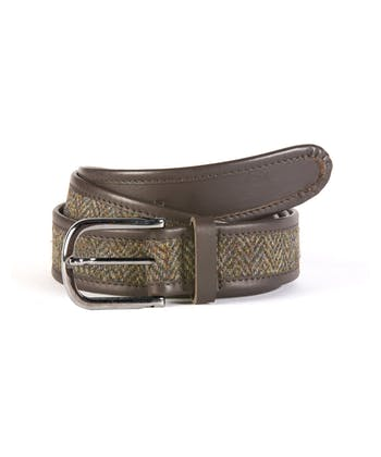 Harris Tweed Belt - Green/Brown