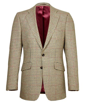 Tweed Jacket - Green/Burgundy Check