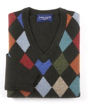 Harlequin V-Neck Jumper