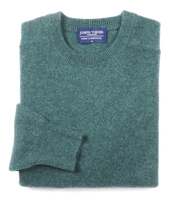 Lambswool Jumper - Crew Neck - Sea Green