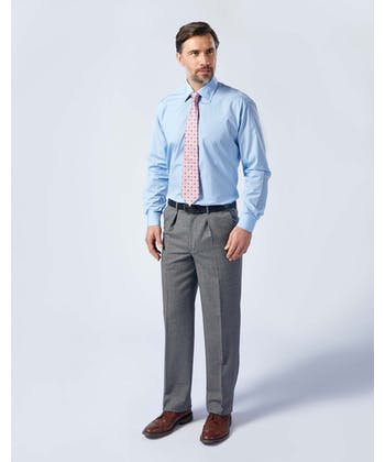 Flannel Trousers - Grey Dogstooth