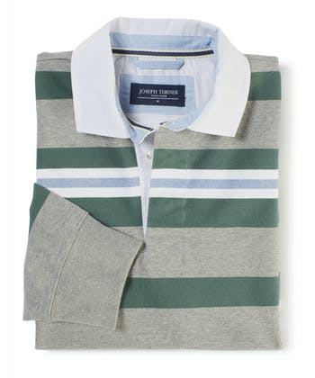 Rugby Shirt - Grey/Green