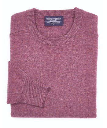 Lambswool Jumper - Crew Neck - Heather