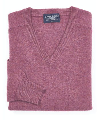 Lambswool Jumper - V Neck - Heather