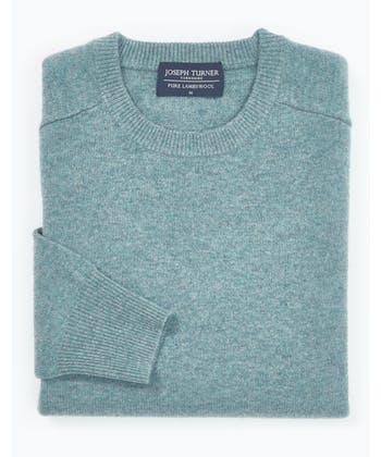 Lambswool Jumper - Crew Neck - Marine