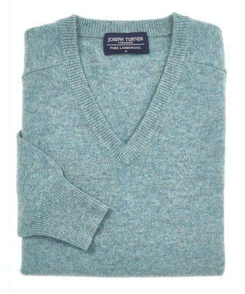 Lambswool Jumper - V Neck - Marine