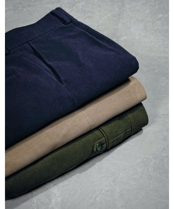 Moleskin Trousers - Dark Green