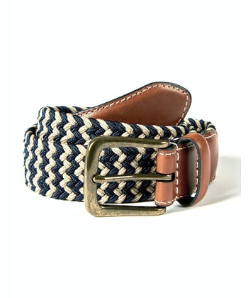 Webbing Belt - Navy/Ecru