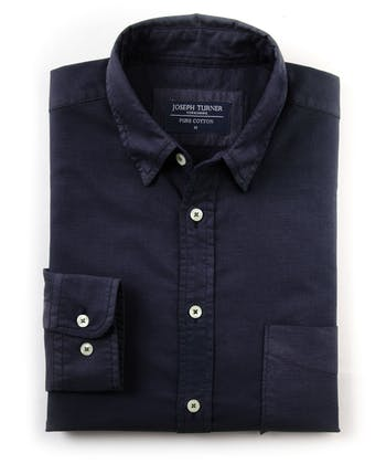 Plain Oxford Shirt - Navy