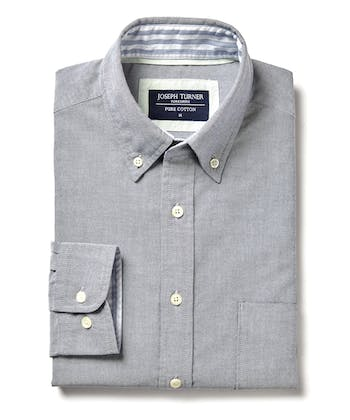 Plain Oxford Shirt - Indigo