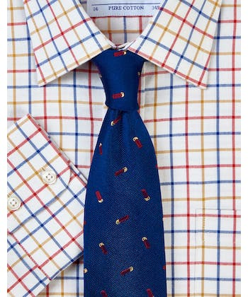 Navy/Sand/Red Country Check Shirt