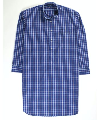 Nightshirt - Navy/Sky/Pink (Fine Cotton)