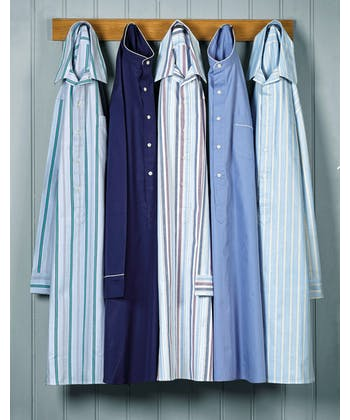 Nightshirt - Blue/Yellow Stripe Brushed