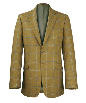 Tweed Jacket - Olive/Blue Check