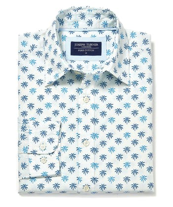 Cotton Print Shirt - Palm Tree