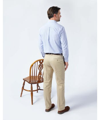 Pleated Front Chinos - Pebble