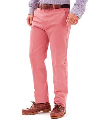 Flat Front Chinos - Pink