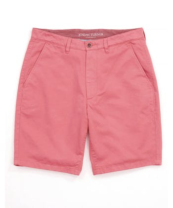 Cotton Twill Shorts - Flat Front - Pink