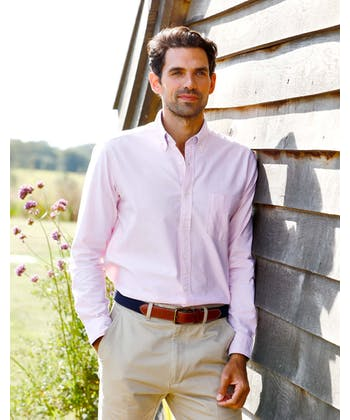 Plain Oxford Shirt - Pink
