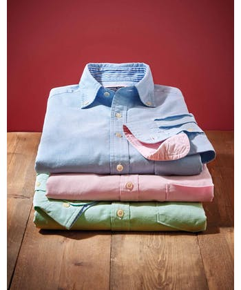 Plain Oxford Shirt - Blue