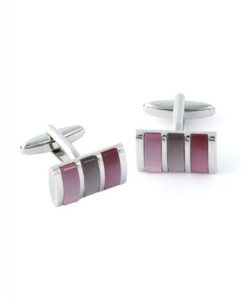 Pink Striped Bar Cufflinks