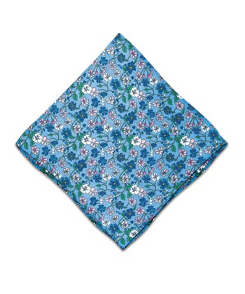Silk Pocket Square - Pink Floral