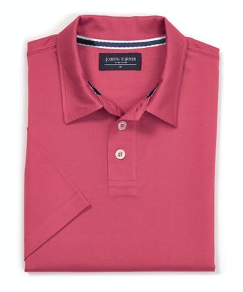 Mercerised Polo Shirt - Poppy