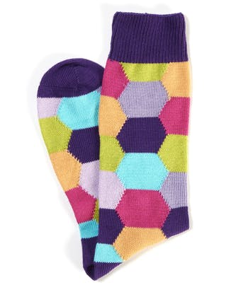 Hexagon Socks - Purple Hexagon