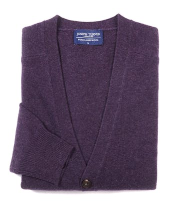 Lambswool - Cardigan - Purple