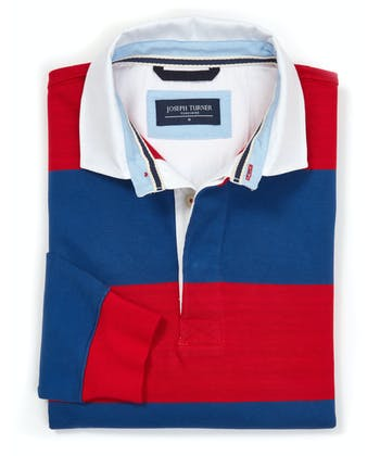 Rugby Shirt - Red/Blue