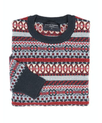 Fair Isle Jumper - Red/Blue/Sand