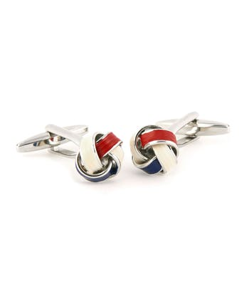 Red/White/Blue Knot Cufflinks