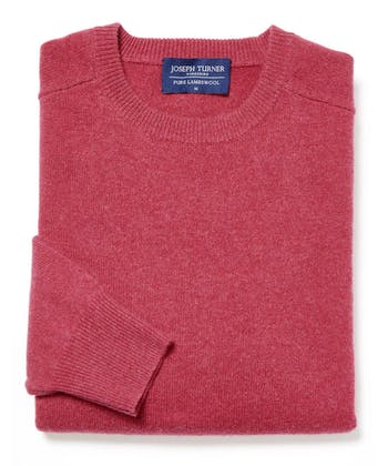 Lambswool Jumper - Crew Neck - Rose