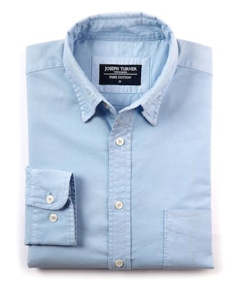Plain Oxford Shirt - Sky